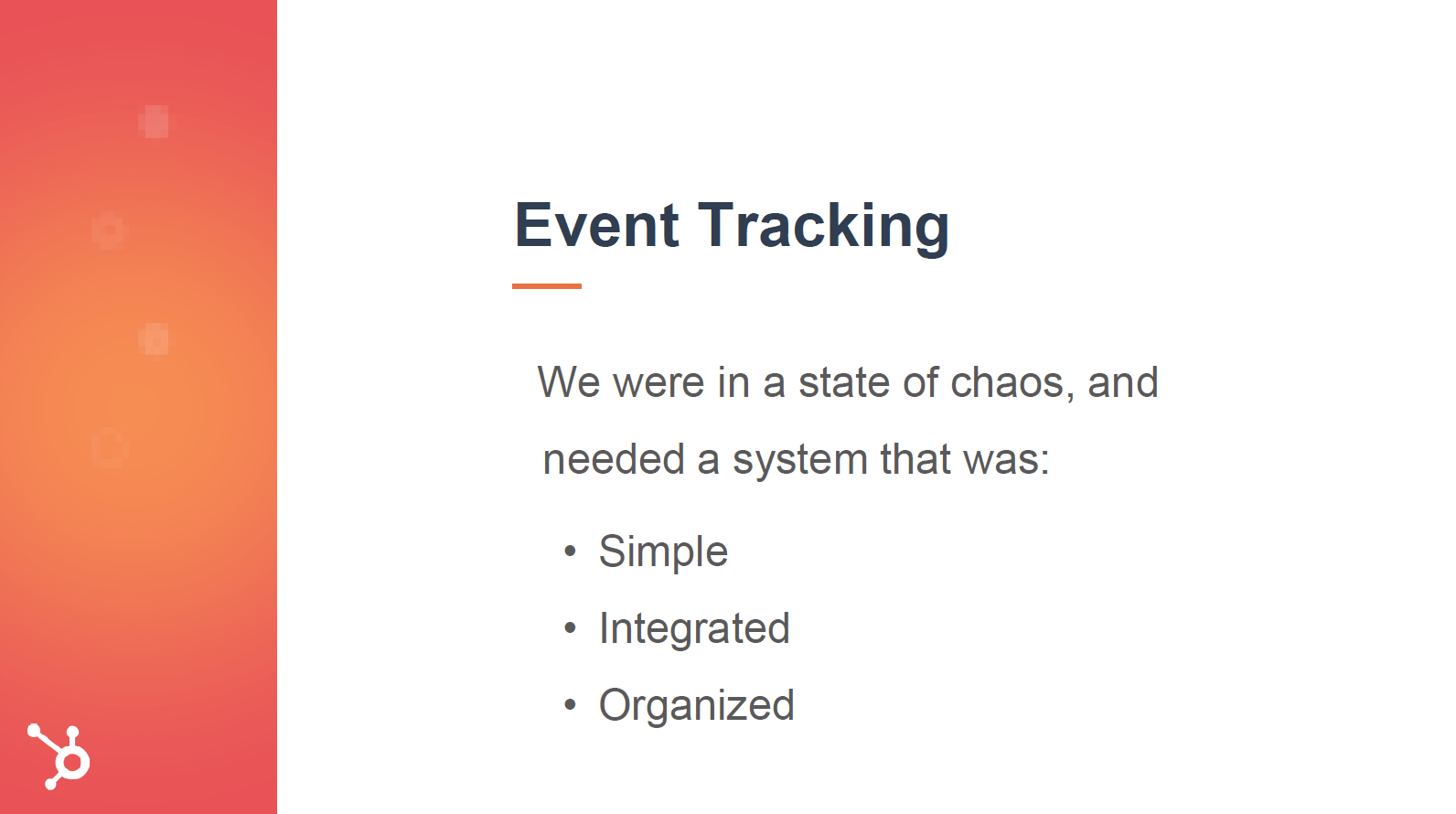 Hubspot user group event tracking