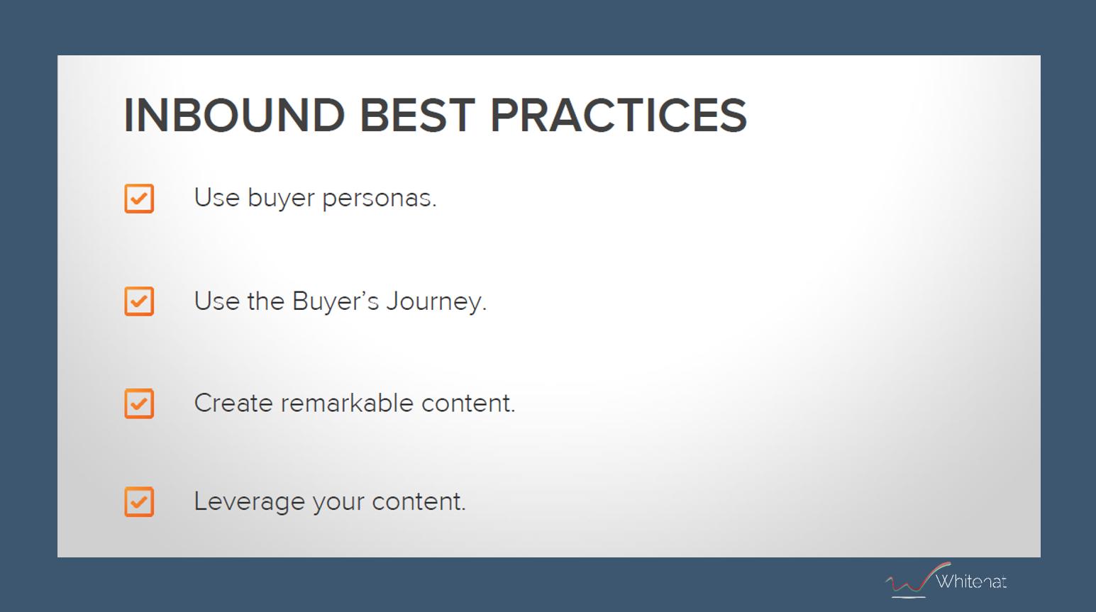 inbound marketing best practices