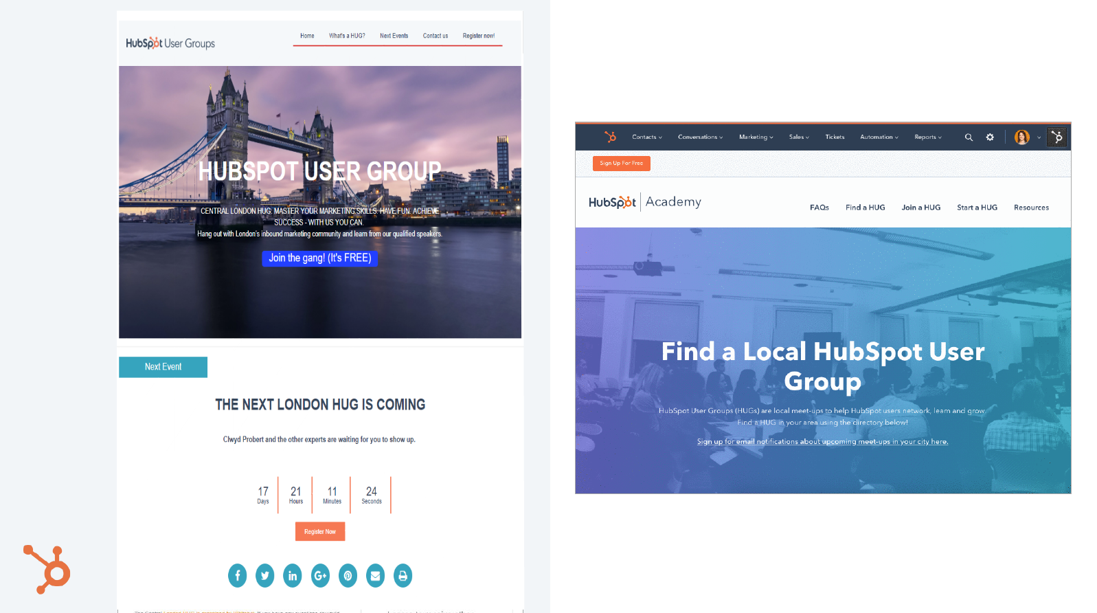 London Hubspot website