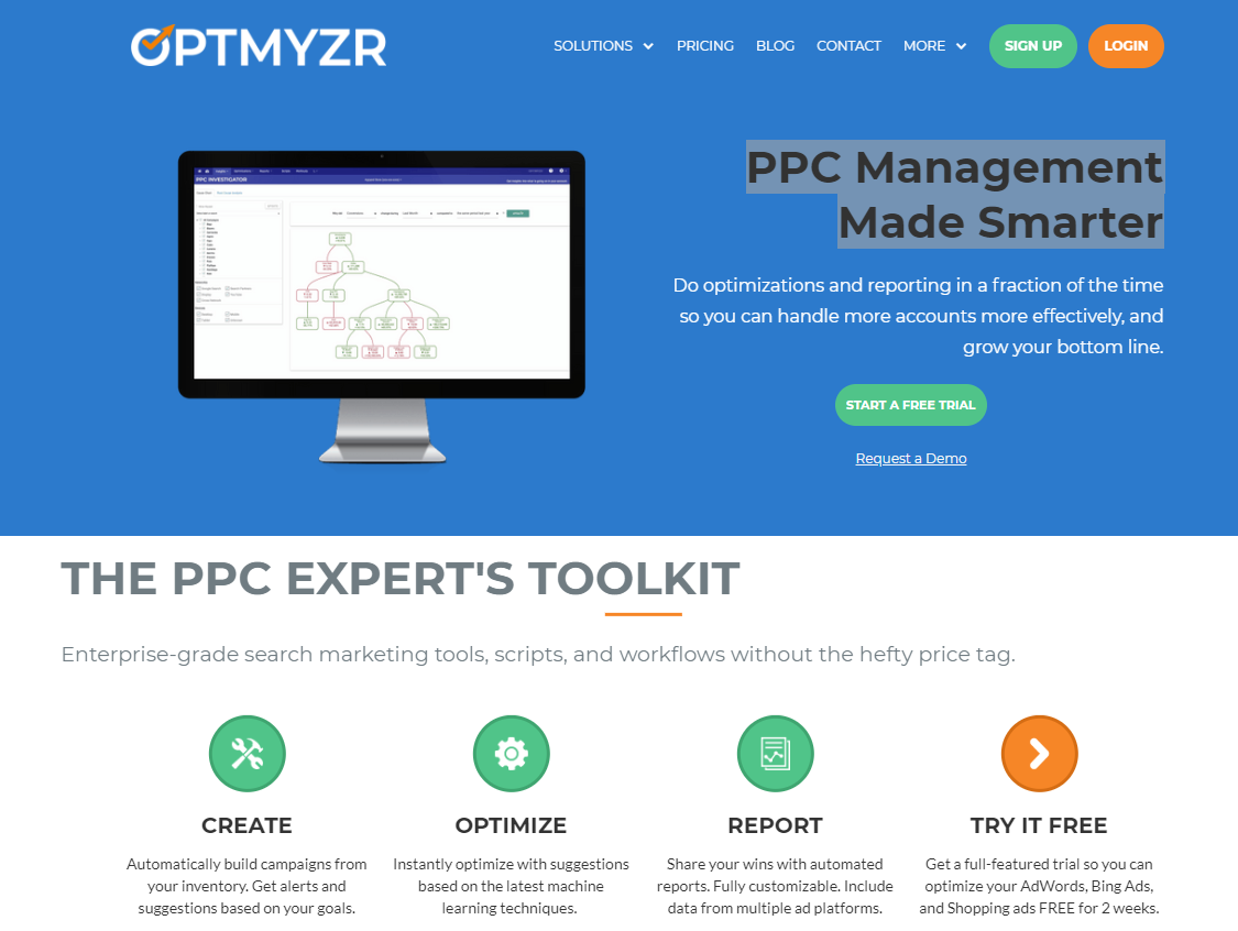 Adwords management software optimyzr ppc tool