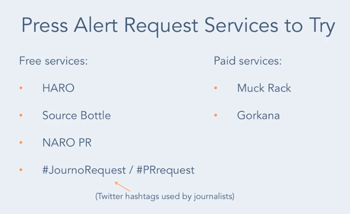 Press request alert services