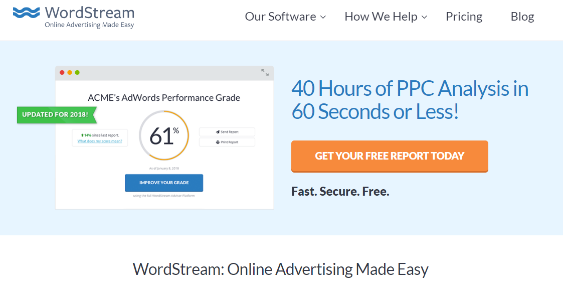 Wordstream ppc management campaigns