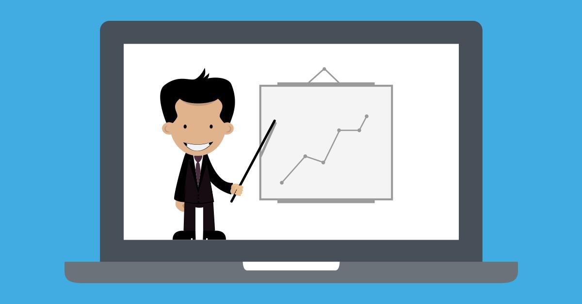 Webinar analytics report graphic
